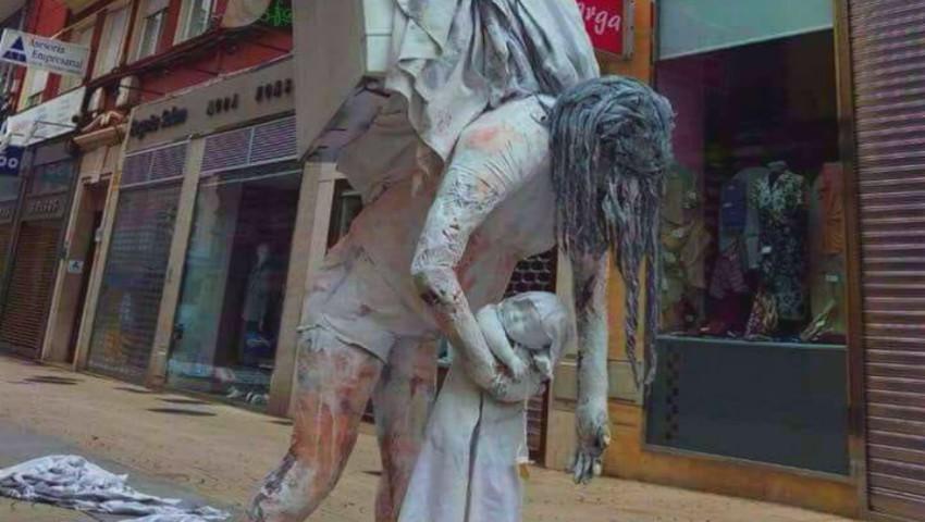 """Foto: În Spania a apărut un monument al ,,Mamei aflate în concediul de creștere a copilului"""". Foto"""