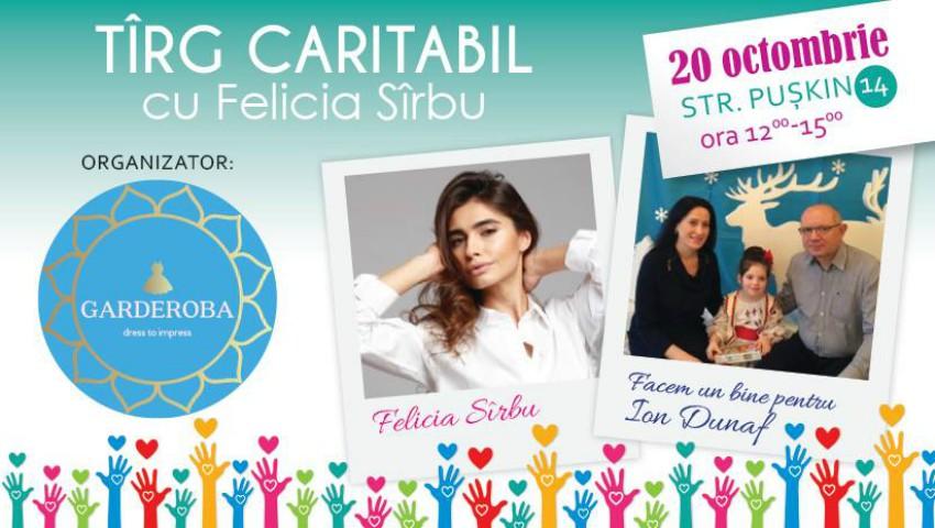 Prezentatoarea TV Felicia Sîrbu își vinde hainele la un târg caritabil