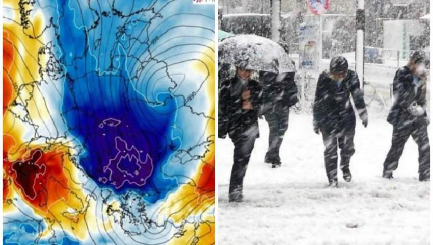 Foto: Europa, lovită de un val de aer polar în următoarele zile. Video!