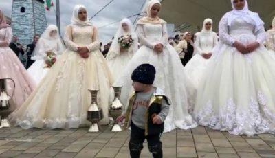Eveniment inedit! O nuntă cu 200 de mirese a avut loc în Cecenia