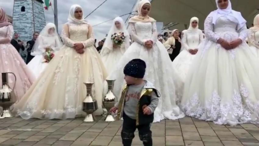Foto: Eveniment inedit! O nuntă cu 200 de mirese a avut loc în Cecenia