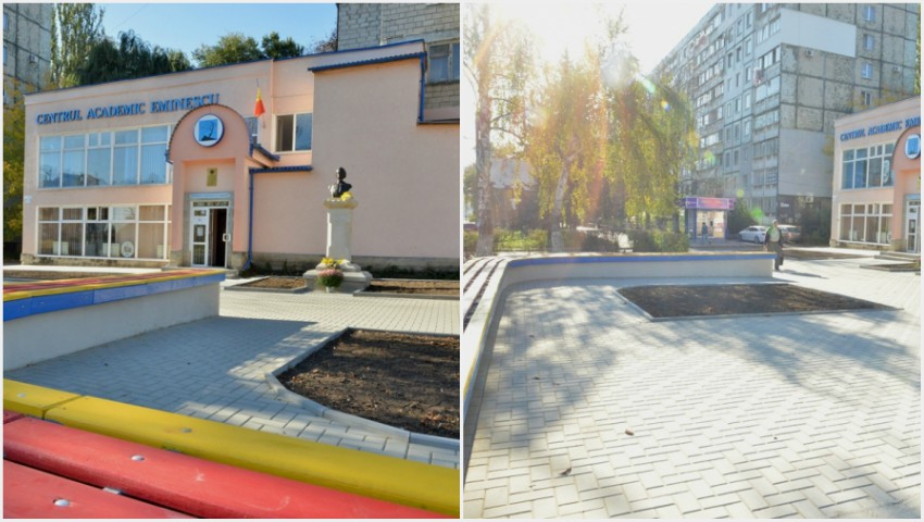 Foto: În sectorul Botanica a fost amenajată o zonă urbană de socializare şi recreere în spaţiu liber
