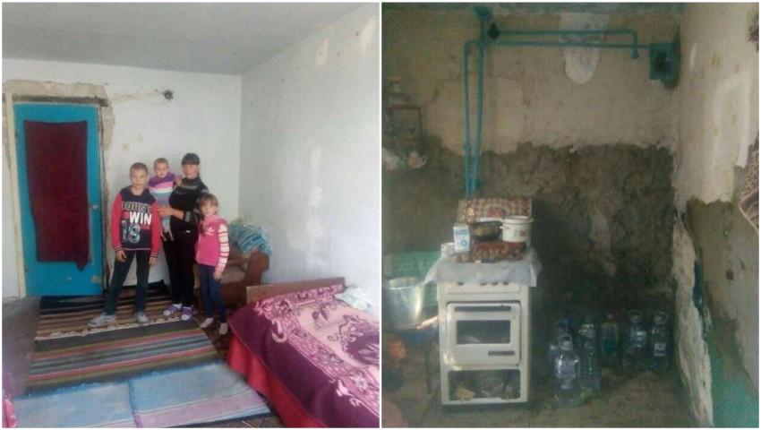 Foto: Trei frați din Glodeni trăiesc într-o sărăcie cumplită. Au nevoie urgent de ajutor!