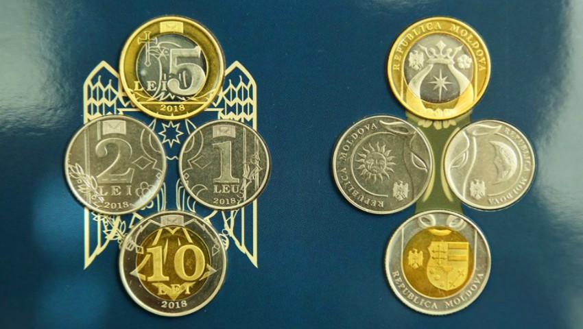 Banca Națională a scos la vânzare seturi de monetărie cu cele patru monede noi de 1, 2, 5 și 10 lei