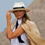Foto: Ce stilată a fost Melania Trump în Egipt! Vezi ce outfit a purtat pentru a vizita piramidele