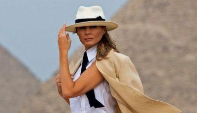 Ce stilată a fost Melania Trump în Egipt! Vezi ce outfit a purtat pentru a vizita piramidele