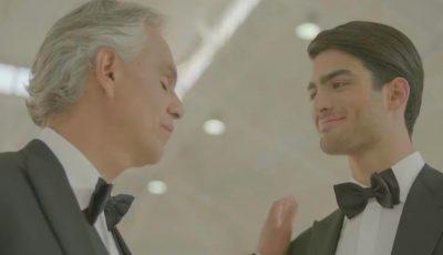 Video emoționant, până la lacrimi! Andrea Bocelli cântă în duet cu fiul său