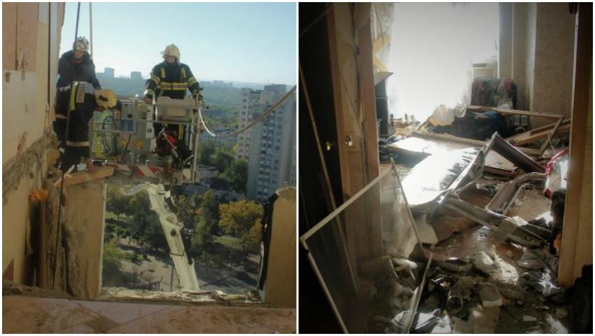 Foto: Dezastru! Imagini noi din interiorul blocului avariat de la Rîșcani