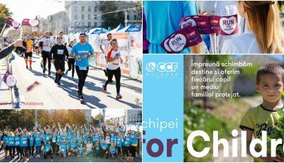 Echipa #RunforChildren a reușit să adune 110.000 de lei, la Maratonul Internațional Chișinău: 3 familii vulnerabile cu 14 copii vor fi conectate la apă potabilă!