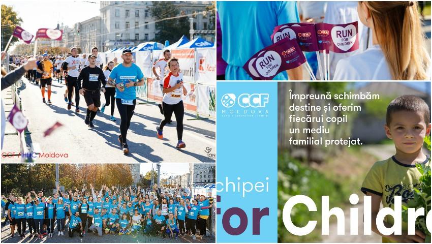 Foto: Echipa #RunforChildren a reușit să adune 110.000 de lei, la Maratonul Internațional Chișinău: 3 familii vulnerabile cu 14 copii vor fi conectate la apă potabilă!