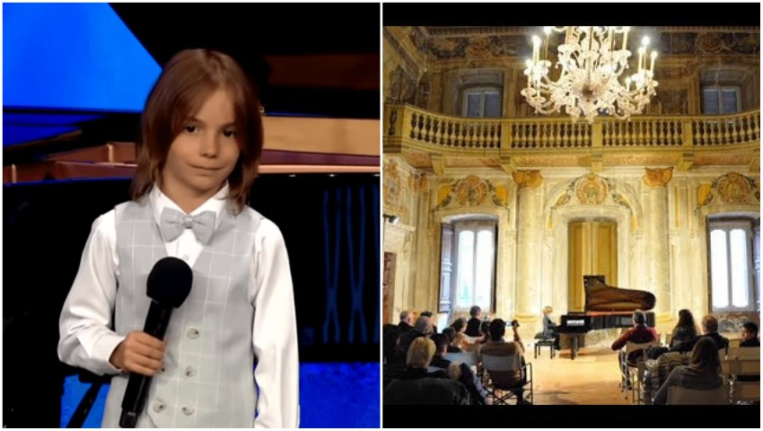 """Foto: Un băiețel de 6 ani, cu origini basarabene, este ,,copilul-minune"""" invitat la numeroase concerte din Europa"""