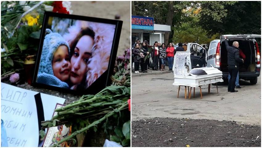 Foto: Lacrimi și durere! Băieţelul de 4 ani şi mama acestuia sunt conduşi pe ultimul drum