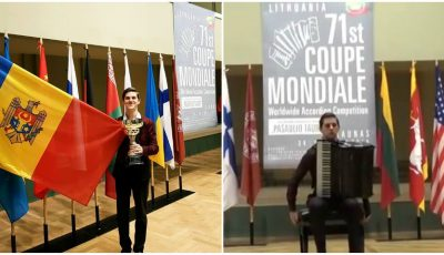 Tânărul artist moldovean Radu Rațoi a câștigat Cupa Mondială la acordeon! Video