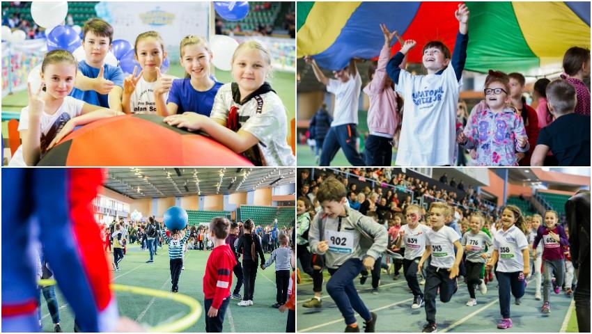 """Circa 1000 de copii s-au prins în Cursa Bunătăţii la evenimentul """"Maratonul Copiilor"""", organizat de Misiunea Socială Diaconia!"""