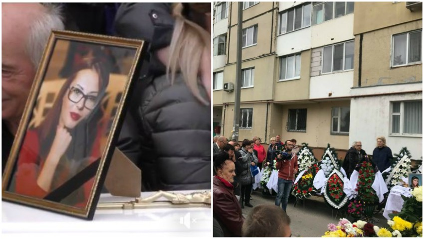 Lacrimi și suferință. Tânăra de 32 de ani, în locuința căreia s-a produs explozia, a fost condusă astăzi pe ultimul drum