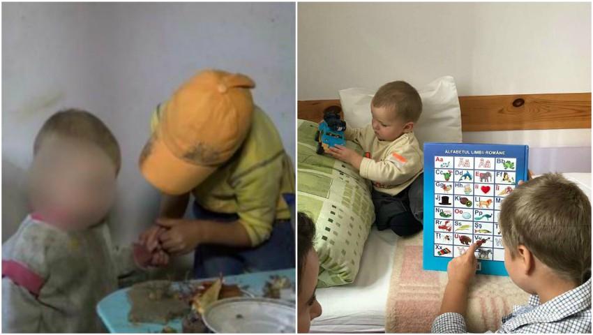 Foto: Copiii din Milești au ajuns într-un centru de plasament. Sunt spălați, curați și îngrijiți