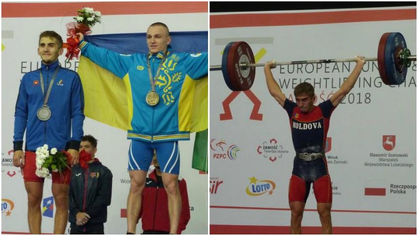 Foto: Moldoveanul Daniel Lungu a devenit vicecampion european la haltere