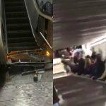 Foto: Imagini șocante. O scară rulantă s-a prăbușit în metroul din Roma. Zeci de răniți, în stare gravă