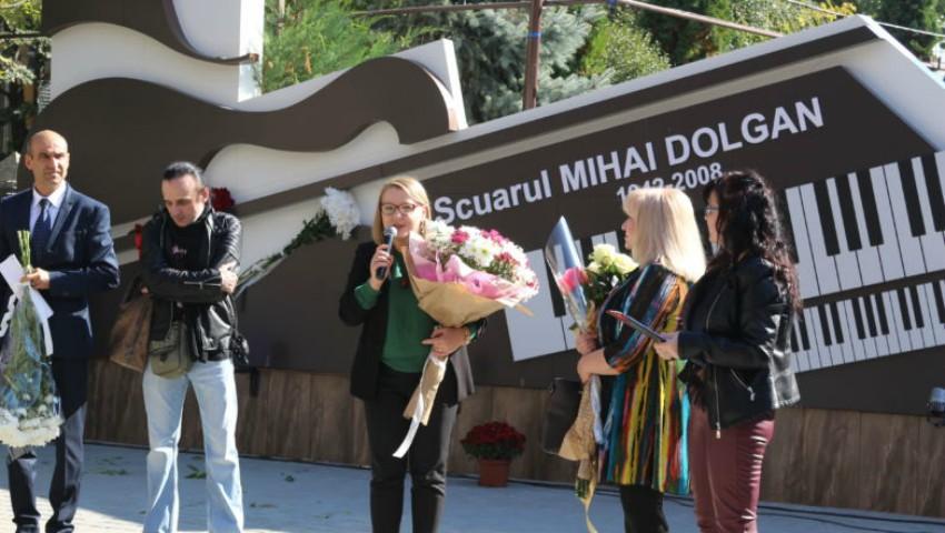 Foto: La Chișinău a fost inaugurat un scuar în memoria compozitorului Mihai Dolgan