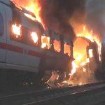 Foto: Video! Un tren de mare viteză a luat foc în Germania. Sunt răniți