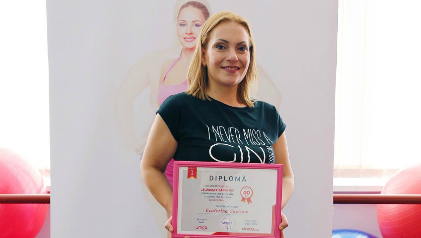 """Foto: Participanta proiectului """"Slăbește Sănătos ed. XIV"""", Ecaterina Savinov a ajuns la Prima Oră!"""