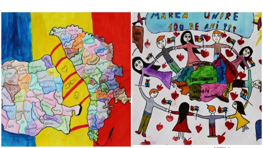 Foto: Impresionant! Expoziție-concurs cu lucrările elevilor, dedicate aniversării Centenarului Marii Uniri