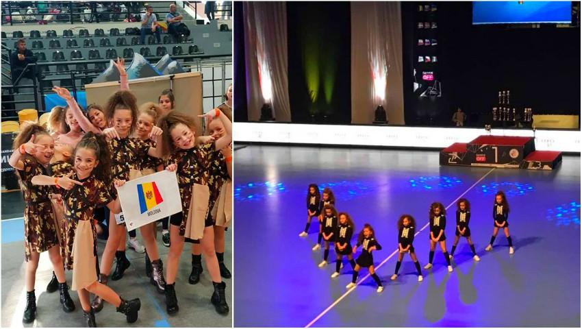 Foto: Micile dansatoare de hip hop și disco au clasat Moldova pe primele locuri, la Campionatele Internaționale din Macedonia