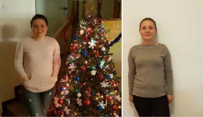 """Exercițiu de voință! Cristina Lupei a slăbit 14 kg cu ajutorul proiectului on-line: """"Galina Tomaș îți cumpără kilogramele"""""""