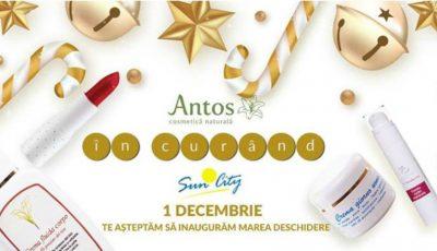 Cosmetica BIO mai aproape de tine! Încă un magazin Antos își va deschide ușile