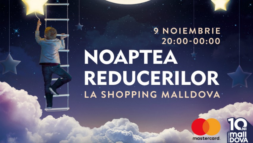Foto: Mega reducerile acestei toamne le găsești la Shopping MallDova. Utilizează cardul bancar MasterCard ca să devii marele câștigător