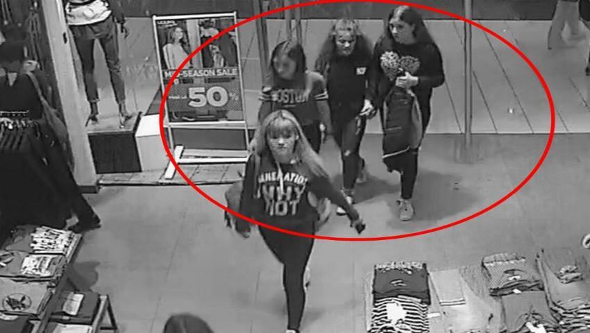 Foto: Patru tinere au furat haine dintr-un magazin din centrul capitalei. Video