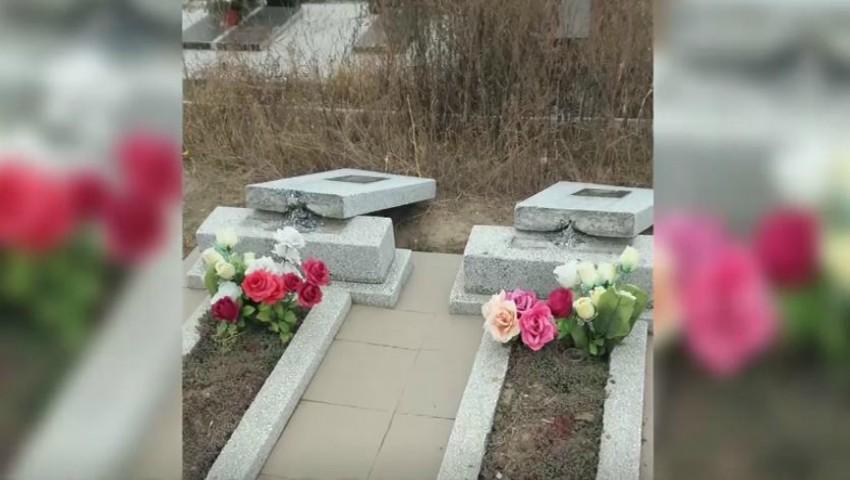 Foto: Zeci de morminte și monumente funerare au fost distruse într-un cimitir din Cahul