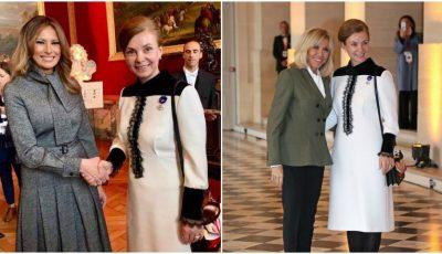 Prima Doamnă a Moldovei, alături de Brigitte Macron și Melania Trump, la cea de-a 100-a aniversare a Marelui Armistiţiu