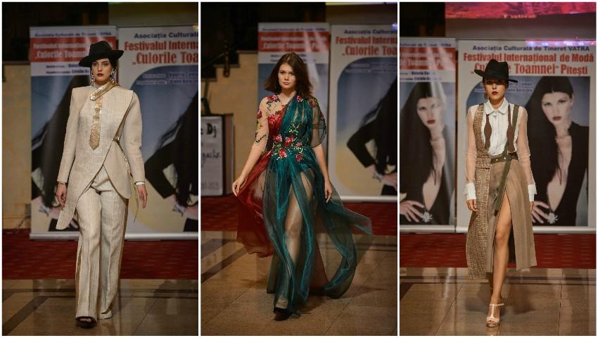 """Foto: Studentele de la Design, din cadrul UPS """"Ion Creangă"""", au obținut primele locuri la Festivalul Internațional de Modă """"Culorile Toamnei"""", desfășurat la Pitești"""