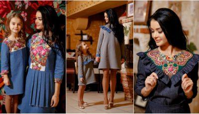 Așa mamă, așa fiică! Kamelia și Tatiana Melnic, în ținute identice create de un designer autohton