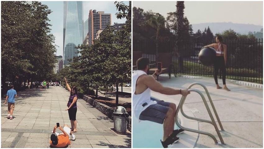 Foto: Ce sacrificii fac unii dintre bărbați pentru a le face poze perfecte partenerelor! Aceste imagini sunt dovada