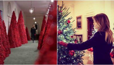 Melania Trump a transformat Casa Albă într-o poveste de Crăciun! Iată cum a decorat-o