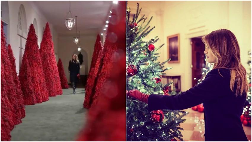 Foto: Melania Trump a transformat Casa Albă într-o poveste de Crăciun! Iată cum a decorat-o