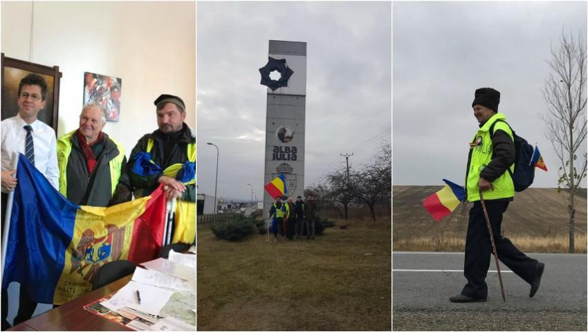 Foto: Misiune îndeplinită! Profesorul Ion Mărgineanu a ajuns la Alba Iulia
