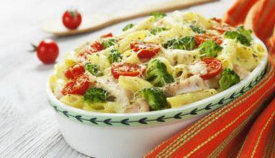 O cină delicioasă! Paste cu pui și broccoli la cuptor