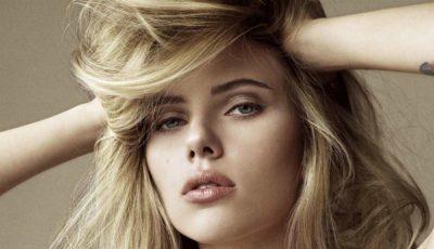 Scarlett Johansson a ieșit cu părul ud pe stradă