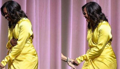Apariție de senzație! Michelle Obama într-o pereche de cizme Balenciaga până la coapse, la un eveniment