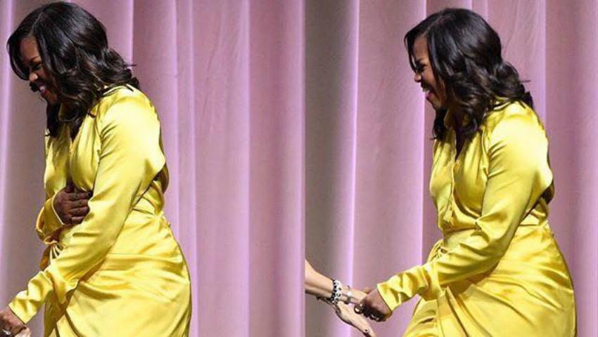 Foto: Apariție de senzație! Michelle Obama într-o pereche de cizme Balenciaga până la coapse, la un eveniment