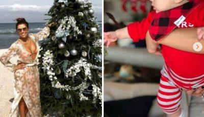 Eva Longoria, imagini adorabile cu fiul ei lângă bradul de Crăciun! Ce mare a crescut Santiago