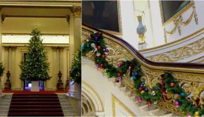 Video! Familia Regală a decorat Palatul Buckingham de Crăciun. Arată ca în basm!