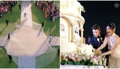 Imagini video fabuloase de la nunta actriței Priyanka Chopra