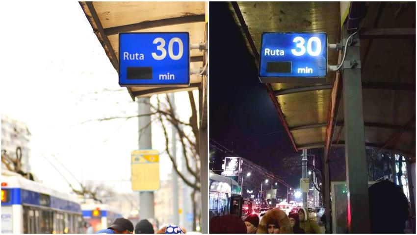 Foto: Vor fi montate panouri digitale la toate stațiile din oraș? Ce spune Primăria Chișinău
