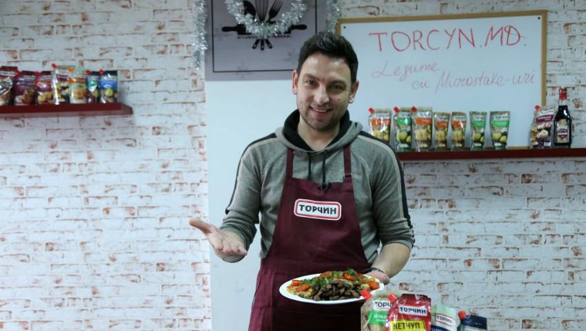 Foto: Online Cooking Show cu Iurie Bădicu – Legume cu Microsteak-uri