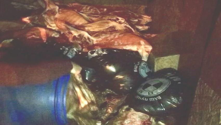 Foto: Carne de bovină, transportată în condiții insalubre. Marfa urmă să ajungă în Piața Centrală