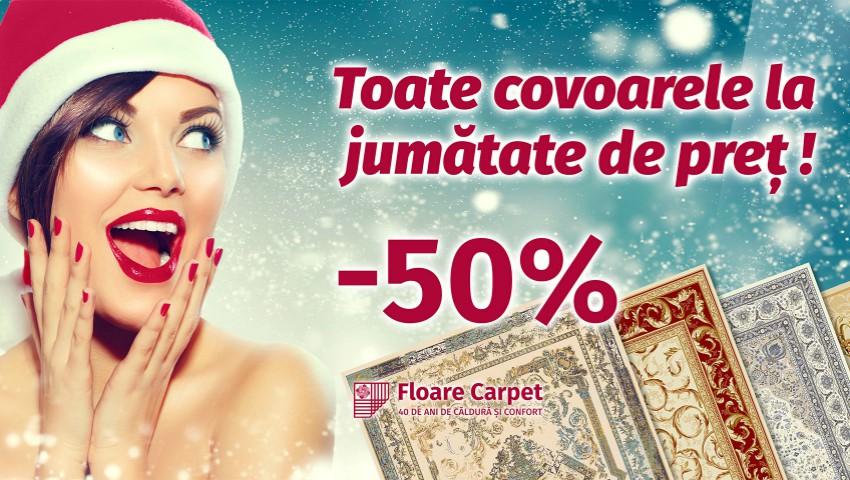 Foto: Toate covoarele la JUMĂTATE DE PREȚ! Bucură-te de magia sărbătorilor de iarnă împreună cu covoarele FLOARE-CARPET!